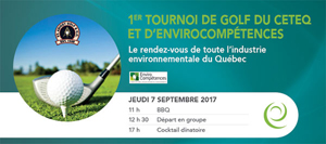 La première édition du tournoi de golf CETEQ-EnviroCompétences : un franc succès !