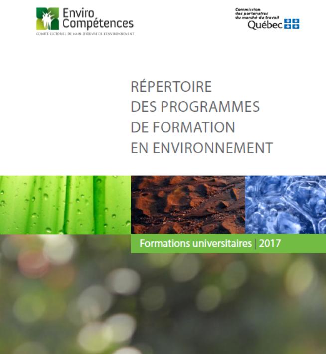Découvrez les répertoires des formations en environnement 2017-2018!