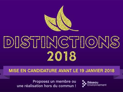 Déposez votre candidature pour la Distinction Cœur Vert 2018!